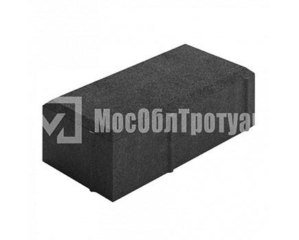 Тротуарная плитка «Вибропрессованный кирпич» Черный
