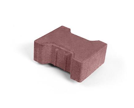 Плитка «Катушка» для тротуара красно коричневый