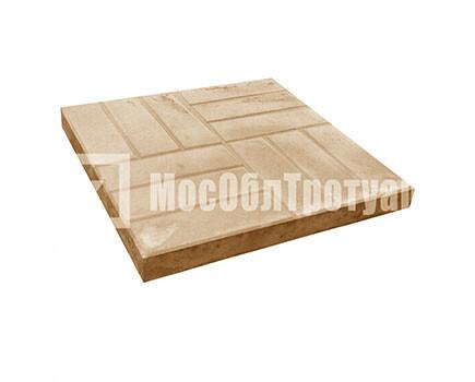 Тротуарная плитка «12 кирпичей» (500X500X50) Оранжевый