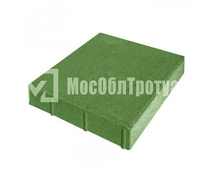 Плитка «Квадрат» для тротуара Зеленый
