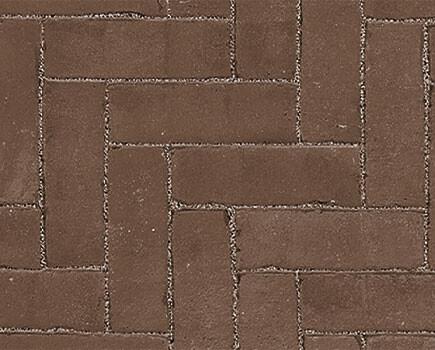 Тротуарный клинкер «Dikformaat» темно-коричневый