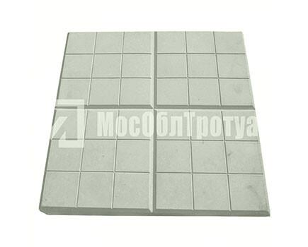 Тротуарная плитка «Сеточка» (350Х350Х50) Серый