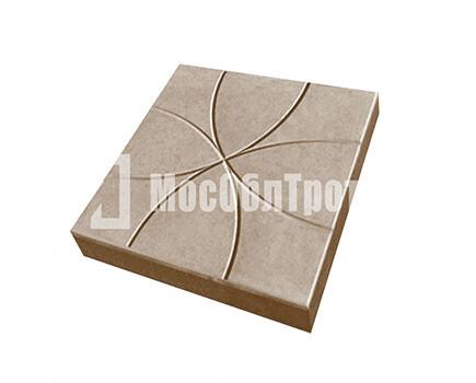 Тротуарная плитка Цветок 350Х350Х50 Коричневый