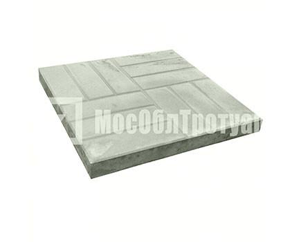 Тротуарная плитка «12 кирпичей» (500X500X50) Серый
