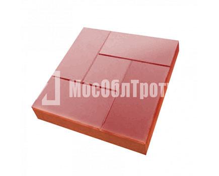 Тротуарная плитка Калифорния 300х300х30 МОТ Красный
