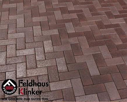 Клинкерная брусчатка «Feldhaus Klinker» Коричневый