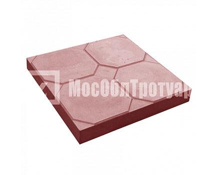 Тротуарная плитка «Окно» (350Х350Х50) Красный