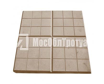 Тротуарная плитка «Сеточка» (350Х350Х50) Коричневый
