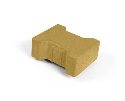 Плитка «Катушка» для тротуара желтый