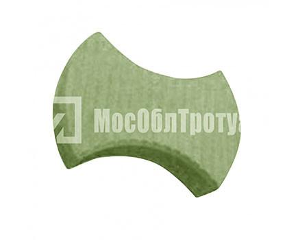 Тротуарная плитка «Пазл с полосками» Зеленый