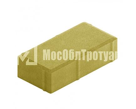 Плитка тротуара «Вибропресс кирпич» Желтый
