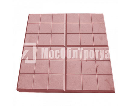 Тротуарная плитка «Сеточка» (350Х350Х50) Красный
