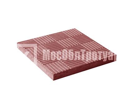 Тротуарная плитка «Паркет» Красный