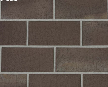 Тротуарная плитка «SPALTKLINKER» т-коричневый