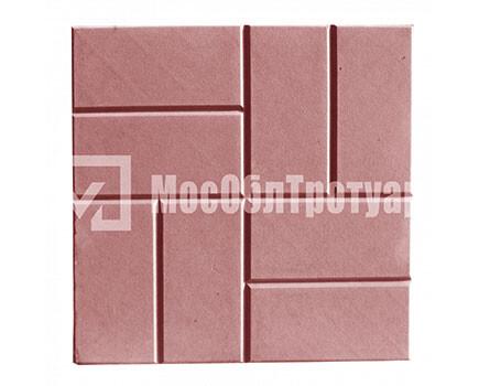 Тротуарная плитка 8 кирпичей Красный