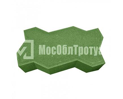 Тротуарная плитка «Вибропрессованная волна» Зеленый