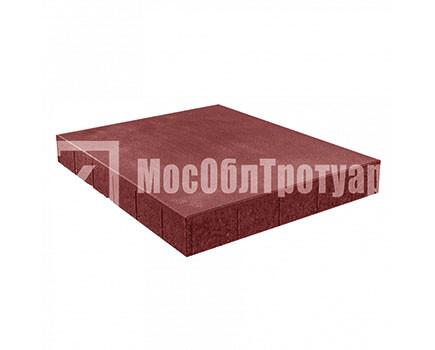 Плитка «Квадрат вибропресcованный» Красный