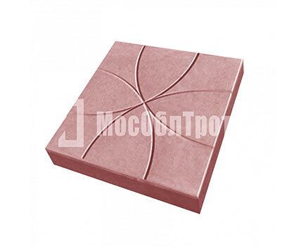 Тротуарная плитка Цветок 350Х350Х50 Красный