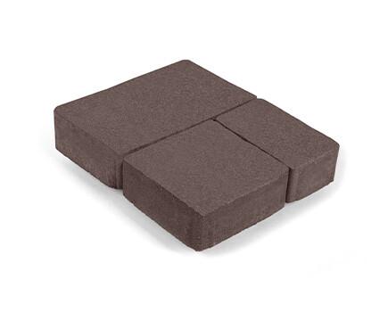 Плитка «Старый город» для тротуара коричневый
