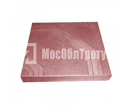 Тротуарная плитка «Орнамент» (400x400x50) Красный