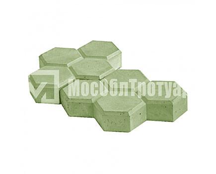 Тротуарная плитка «Соты» Зеленый