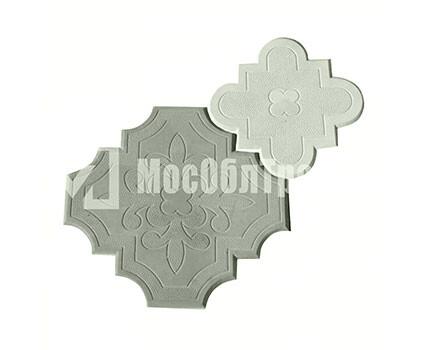 Плитка «Краковский клевер» Гжелка Серый
