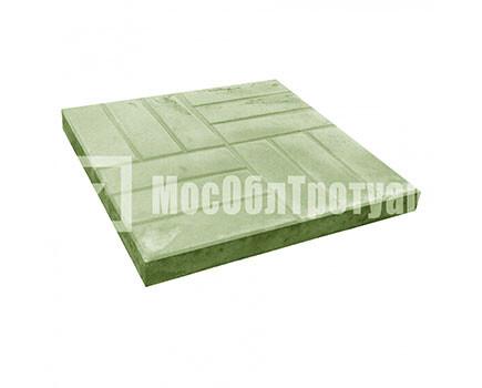 Тротуарная плитка «12 кирпичей» (500X500X50) Зеленый