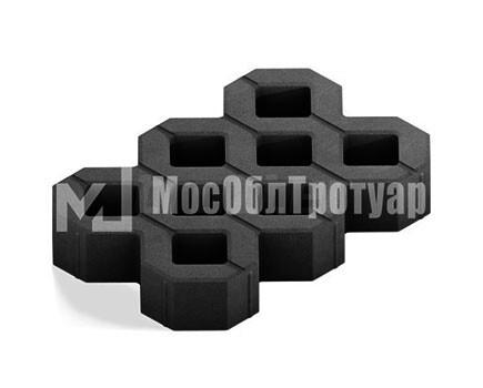 Тротуарная плитка «Газонная решетка» Черный