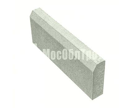 Бордюрный камень «Садовый вибропрессованный» Серый