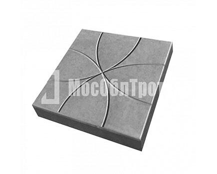 Тротуарная плитка Цветок 350Х350Х50 Черный