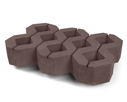 Тротуарная-плитка-Газонный-камень коричневый