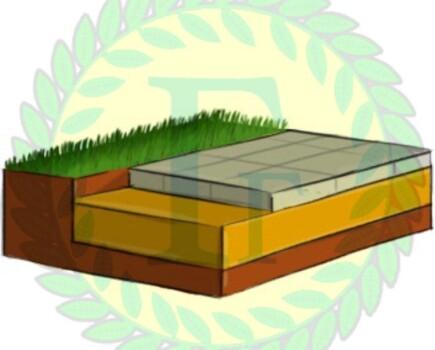 Укладка плитки с устройством песчаного основания