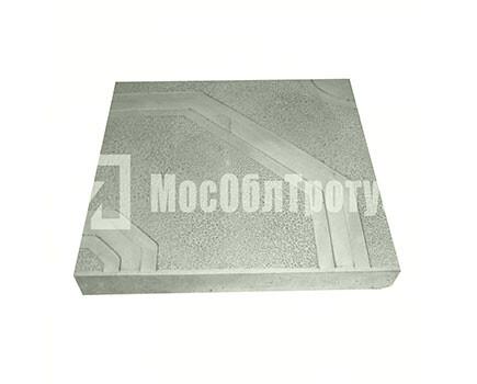 Тротуарная плитка «Орнамент» (400x400x50) Серый