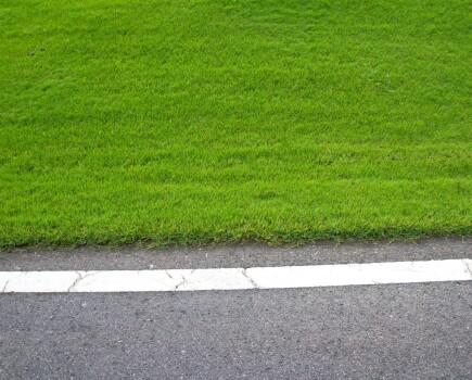 Обработка кромок газона
