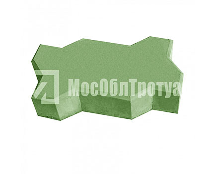 Плитка тротуарная «Волна» Зеленый