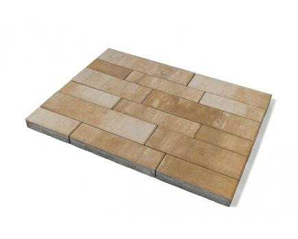 Тротуарная плитка «Домино» Светло-коричневый
