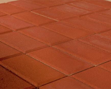 Тротуарная плитка «Прямоугольник» Красный