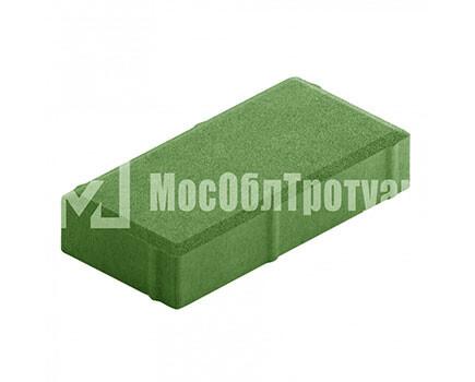Плитка тротуара «Вибропрессованный кирпич» Зеленый