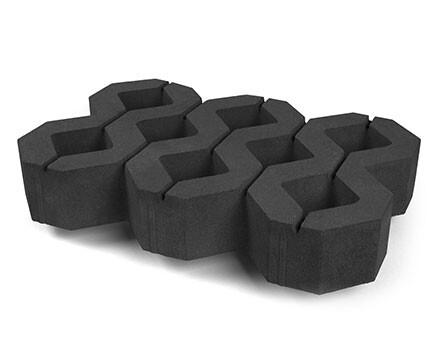 Тротуарная плитка Газонный камень черный