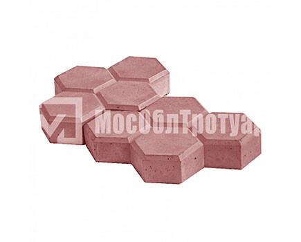 Тротуарная плитка «Соты» Красный