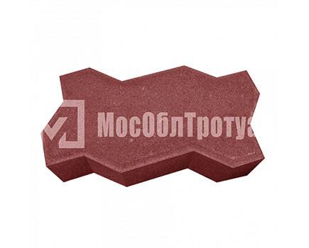 Тротуарная плитка «Вибропрессованная волна» Красный