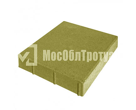 Плитка «Квадрат» для тротуара Желтый