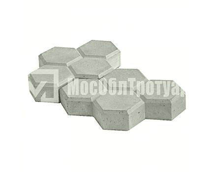 Тротуарная плитка «Соты» Серый