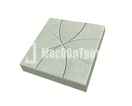 Тротуарная плитка Цветок 350Х350Х50 Cерый