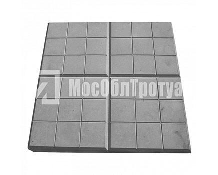 Тротуарная плитка «Сеточка» (350Х350Х50) Черный