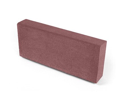 Камень тротуарный «Бортовой» красноо коричневый