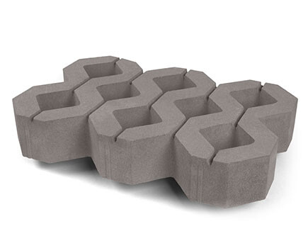 Тротуарная-плитка-Газонный-камень-серый