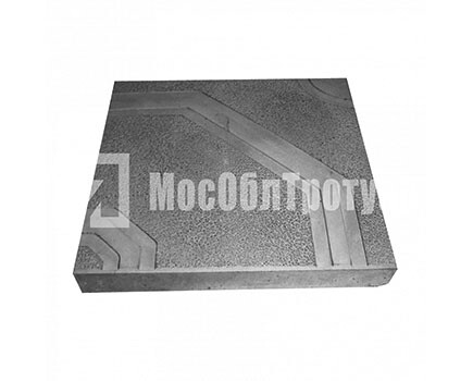 Тротуарная плитка «Орнамент» (400x400x50) Черный