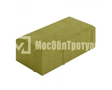 Тротуарная плитка «Вибропрессованный кирпич» Желтый