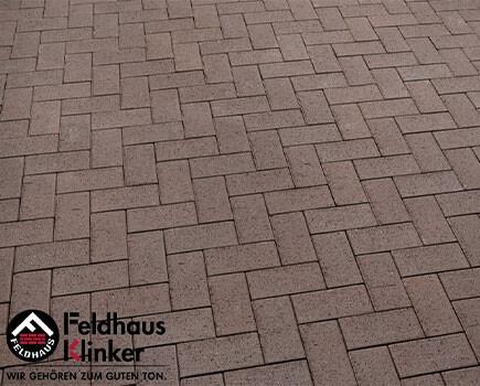 Клинкерная брусчатка «Feldhaus Klinker» Темно-коричневый